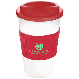 Mug Publicitaire | Americano Thermal Grip Blanc Rouge 1