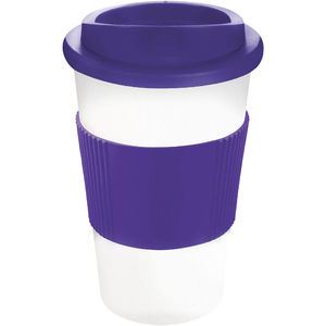 Mug Publicitaire | Americano Thermal Grip Blanc Violet