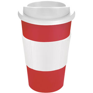 Mug Publicitaire | Americano Thermal Grip Rouge Blanc