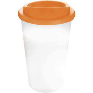 Mug Publicitaire | Americano Thermal Blanc Orange