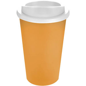 Mug Publicitaire | Americano Thermal Orange Blanc
